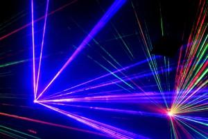 Aser Light in Nightclub Image Audiovisuals