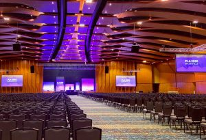 A large convention venue set for PLA 2020 Conference in Nashville, Tennessee.