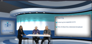 Meeting professionals discussing hybrid events for a virtual event