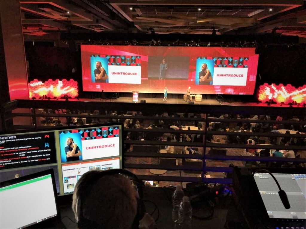 A live event produced by a full-service audio visual provider